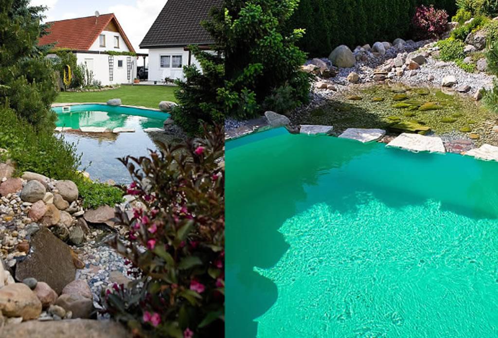 Bachlauf, Wasserspiele und Quellstein - Gartengestaltung mit ...