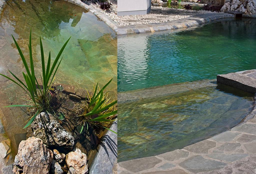 Teichanlage - Bachlauf, Wasserspiel, Quellstein - Galeriebild