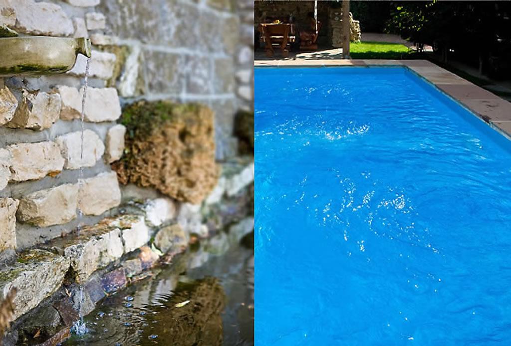 Wandbrunnen und Bachlauf - Gartenteich, Schwimmteich, Pool - Galeriebild