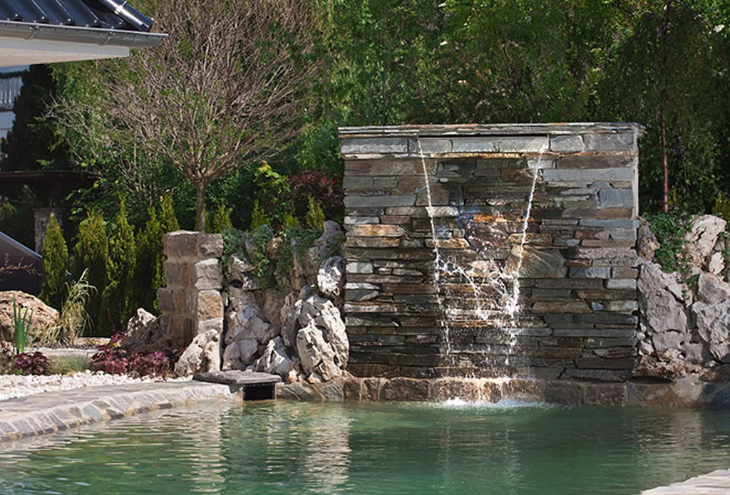 Garten Steinmauer Wasserfall – msglocal.info