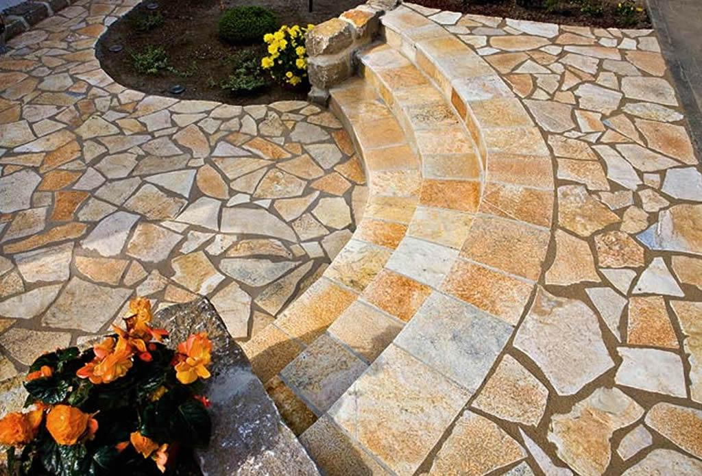 Wege treppen und terrassen gartengestaltung mit - Natursteine fur garten ...