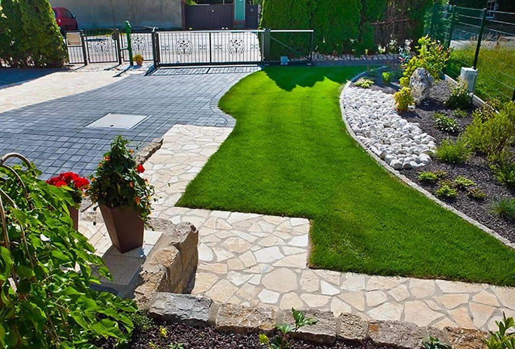 naturstein f r haus zufahrt und vorgarten gartengestaltung mit naturstein leipzig krostitz. Black Bedroom Furniture Sets. Home Design Ideas