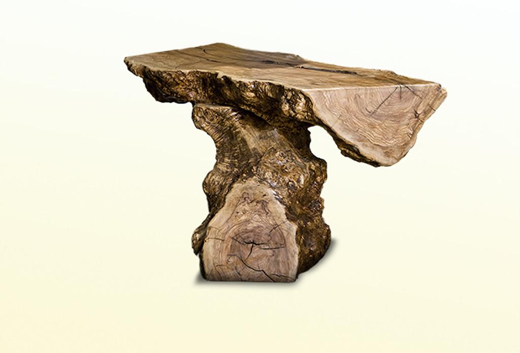 rustikaler Tisch aus Olivenbaum - Olivenholz - Galeriebild