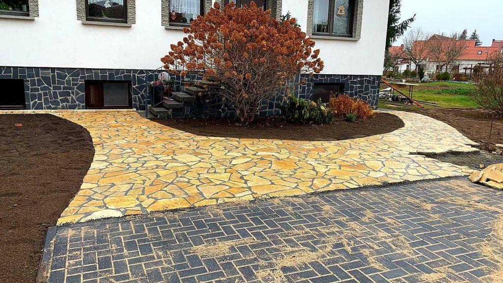 Naturstein Polygonalplattenverlegung